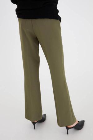 high waist flared broek Lexi groen