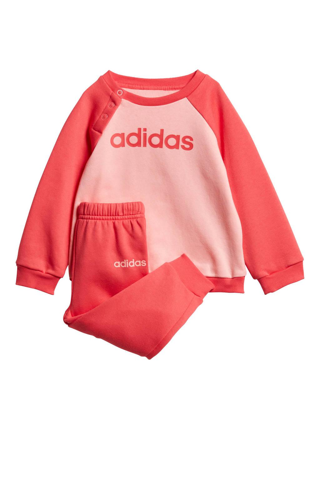 adidas Originals joggingpak roze/koraalrood, Meisjes