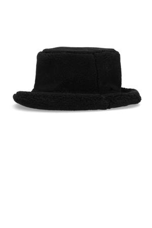teddy bucket hat zwart