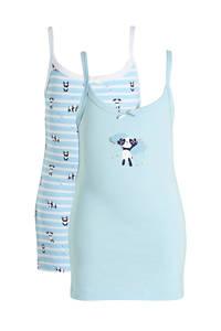 C&A Palomino singlet - set van 2 lichtblauw/wit, Lichtblauw/wit