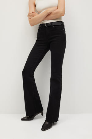 mid rise flared jeans zwart