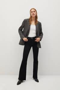 Mango high waist flared jeans zwart, Zwart