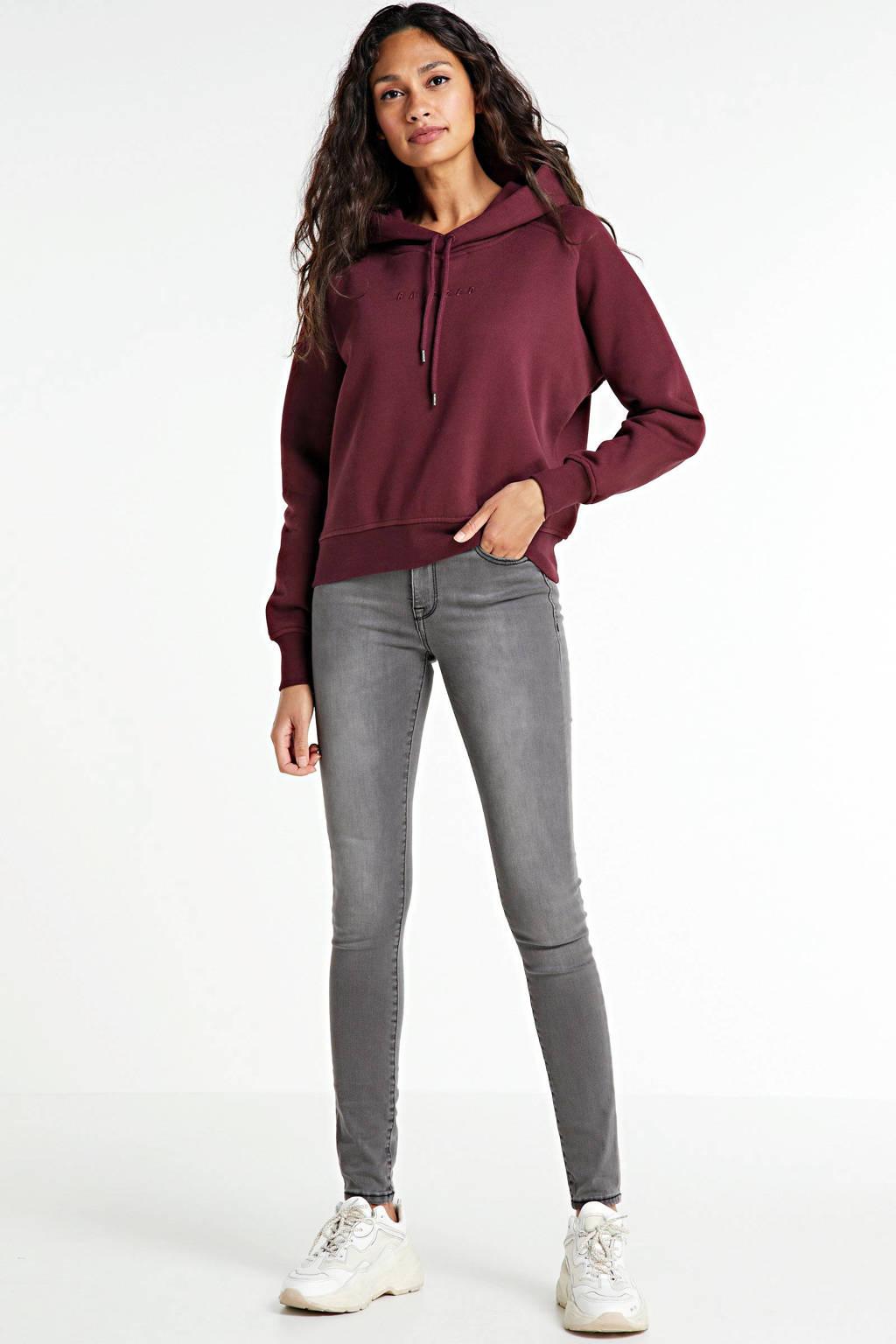 Raizzed hoodie Nadine met logo 628 bordeaux red, 628 Bordeaux Red