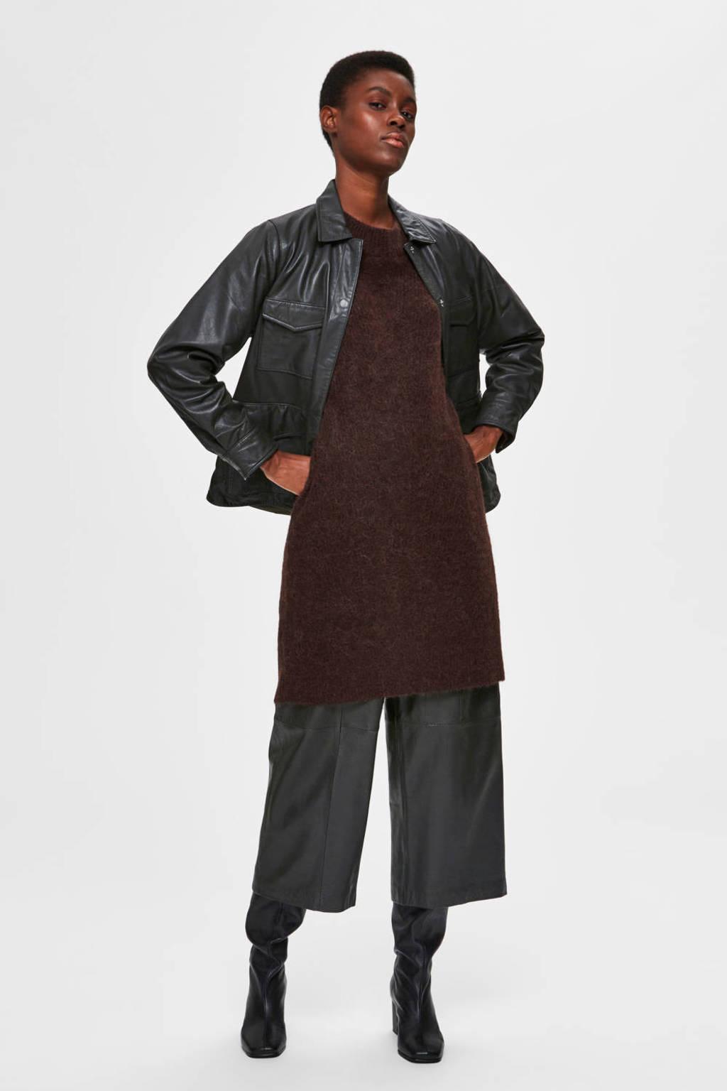 SELECTED FEMME jurk bruin, Bruin
