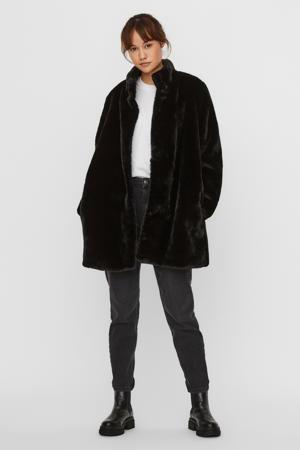 imitatiebont coat zwart