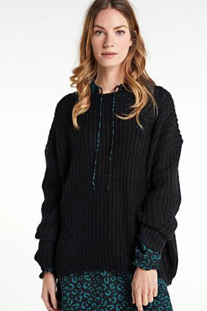 gebreide trui Paca zwart