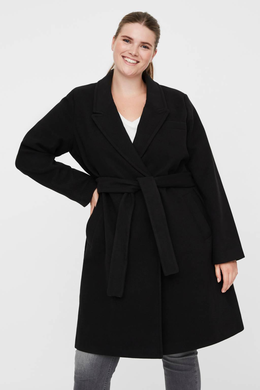 VERO MODA CURVE coat zwart, Zwart
