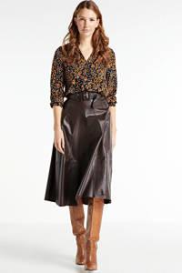 VERO MODA blouse met all over print bruin, Bruin