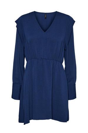 blousejurk van gerecycled polyester blauw
