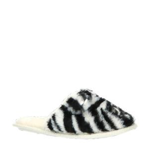 pantoffels zebraprint