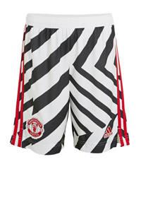 adidas Performance Junior Manchester United 3e short wit/zwart, Wit/zwart