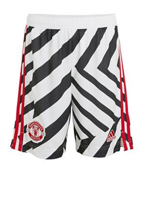 Junior Manchester United 3e short wit/zwart