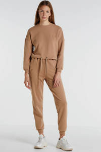 JOSH V sweater SHAY met borduursels camel, Camel