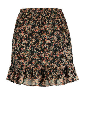 gebloemde rok Rose-Ann flower black
