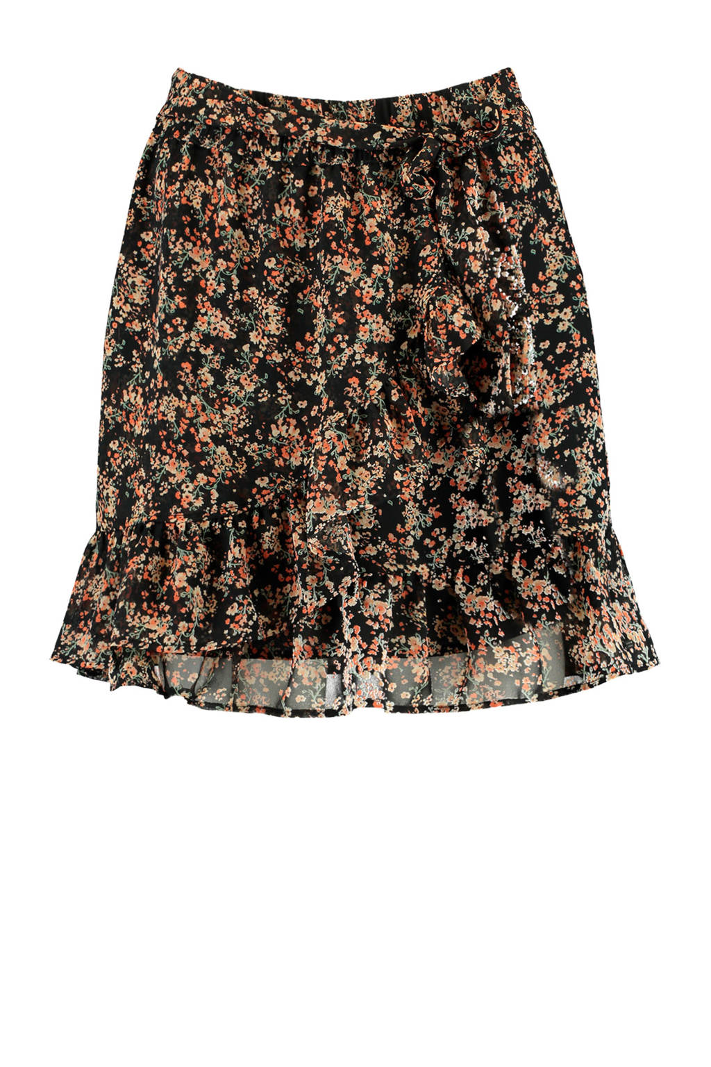 America Today gebloemde rok Rose-Ann flower black, Flower black