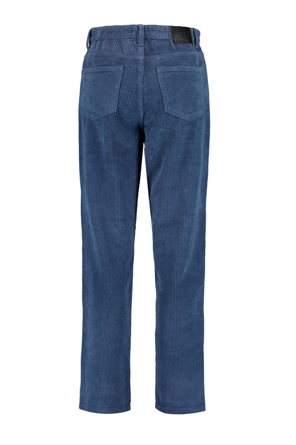 America Today corduroy high waist loose fit broek Jadan old school blue, Old school blue