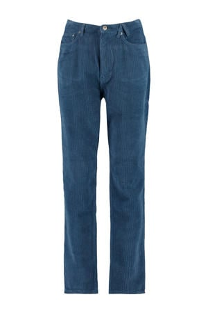 corduroy high waist loose fit broek Jadan old school blue