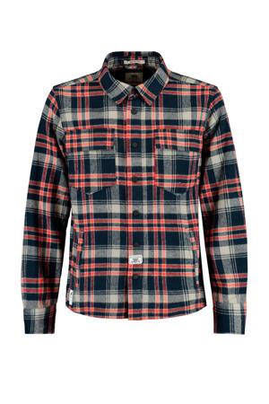 geruit overhemd Brock donkerblauw/rood