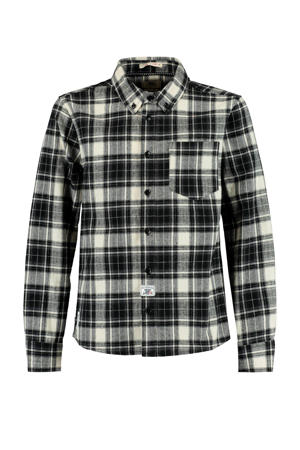 geruit overhemd Brody zwart/wit