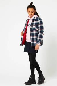 America Today Junior geruite blouse Bibi donkerblauw/ecru/rood, Donkerblauw/ecru/rood