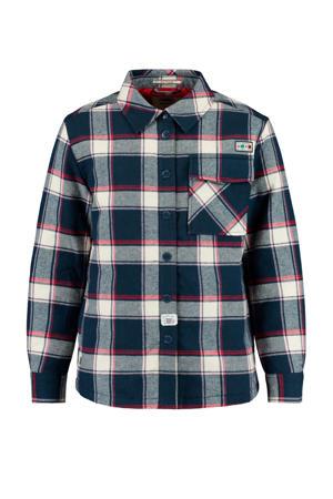 geruite blouse Bibi donkerblauw/ecru/rood