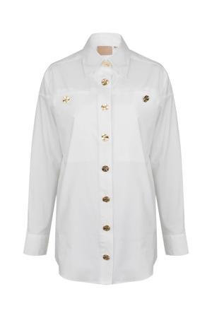 geweven blouse Lylana wit