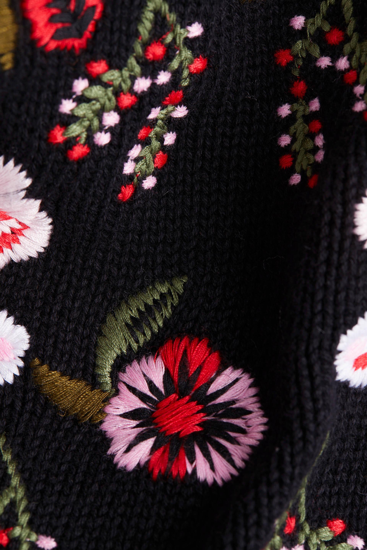 edc Women gebloemde gebreide trui zwartroodlichtroze | wehkamp