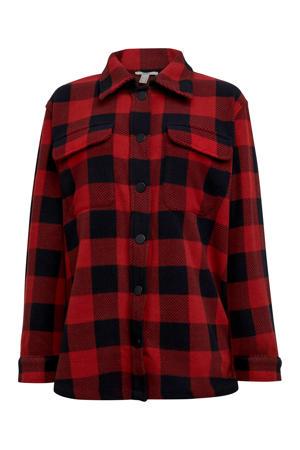 geruite blouse rood/zwart