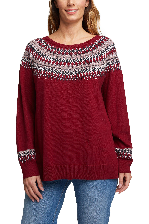 ESPRIT Women Casual fijngebreide trui met biologisch katoen