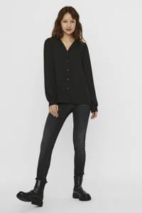 VERO MODA blouse Gry zwart, Zwart