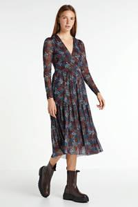 Soaked In Luxury gebloemde jurk van gerecycled polyester donkerrood/multi