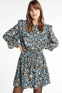 Soaked In Luxury gebloemde jurk Melvine blauw/multi, Blauw/multi
