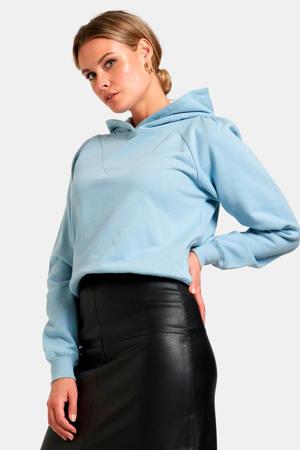 hoodie Lexie met printopdruk lichtblauw