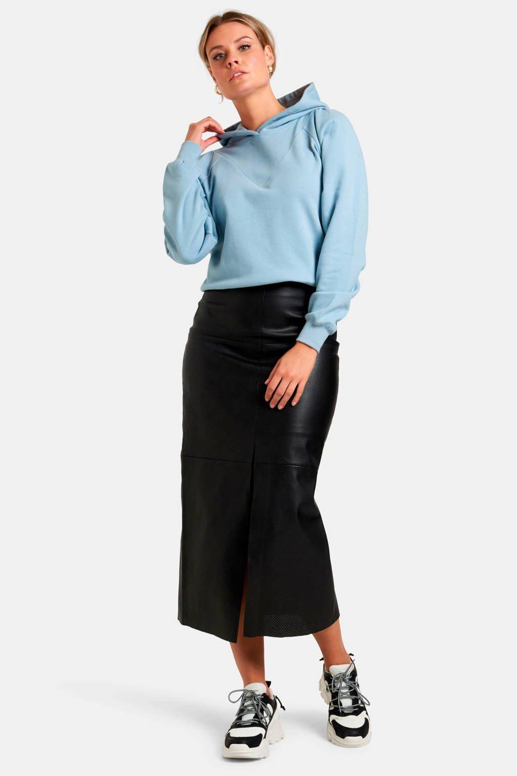 Eksept by Shoeby hoodie Lexie met printopdruk lichtblauw, Lichtblauw