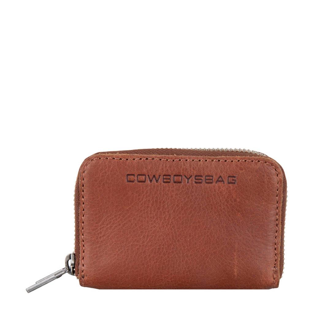 Cowboysbag leren portemonnee Lydia cognac, Cognac