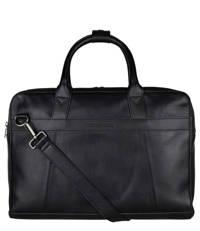 Cowboysbag  15,6 inch leren laptoptas Ross zwart, Zwart
