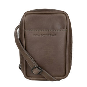 leren crossbody tas Pierce taupe