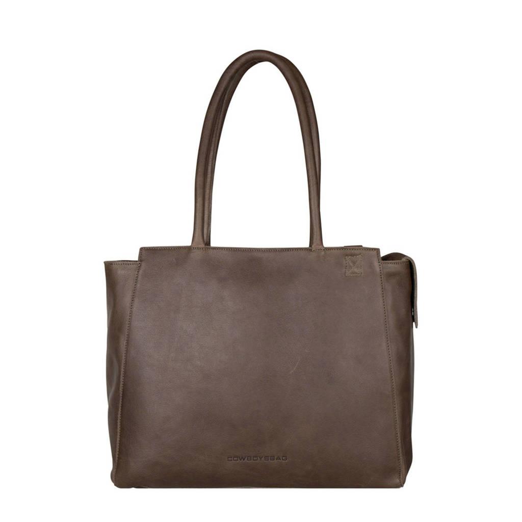 "Cowboysbag  15.6 leren laptoptas 15.6"" Evi grijs, Grijs"