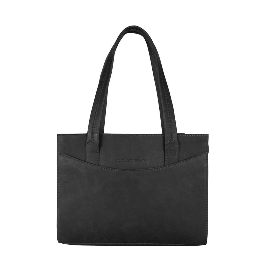 Cowboysbag   13 inch leren laptoptas Lismore zwart, Zwart