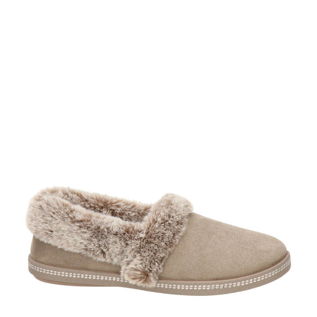 Skechers Cali pantoffels taupe, Taupe