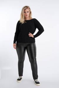MS Mode trui met all over print zwart/wit, Zwart/wit