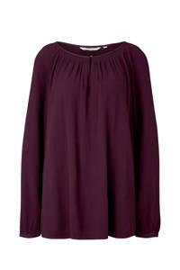My True Me blouse met open detail donkerpaars, Donkerpaars