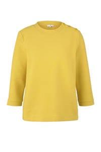 Tom Tailor sweater met textuur geel, Geel