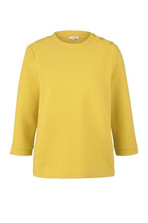 sweater met textuur geel