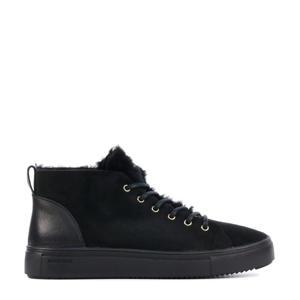 QL48   suède sneakers zwart