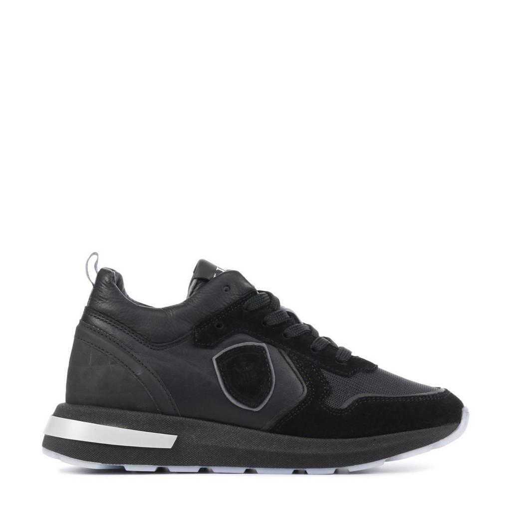 Hip H1931  leren sneakers zwart, Zwart