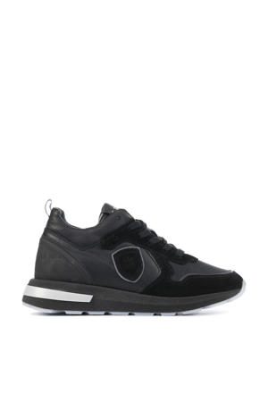 H1931  leren sneakers zwart