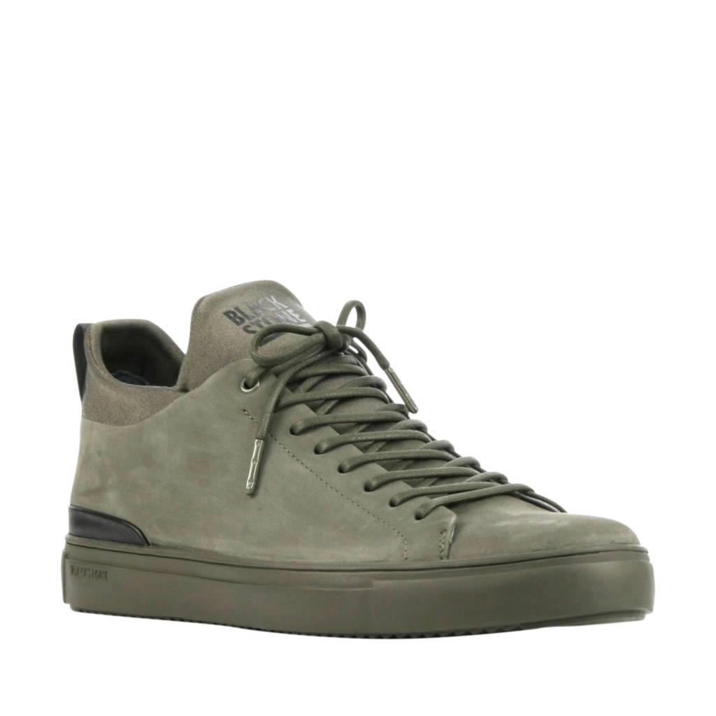Blackstone SG18  suède sneakers groen, Groen