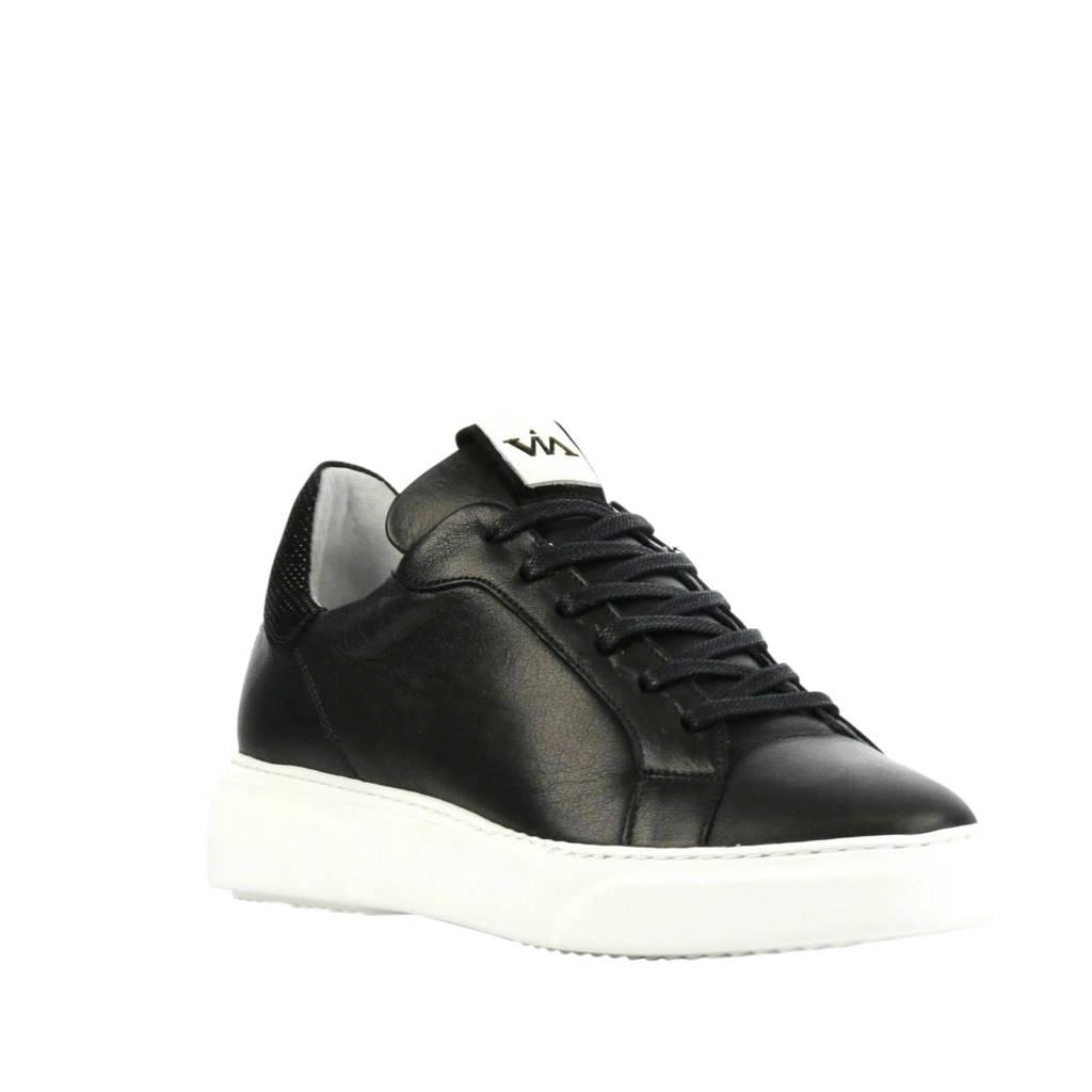 Via Vai 5401010  leren sneakers zwart, Zwart