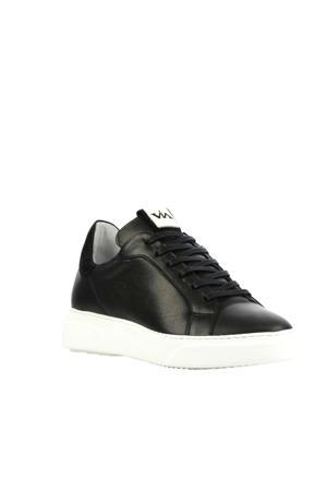 5401010  leren sneakers zwart